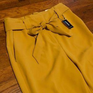 Express High Rise Mustard Dress Pants